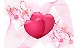 Papel de parede Corações Apaixonados