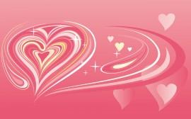 Papel de parede Coração Rosa