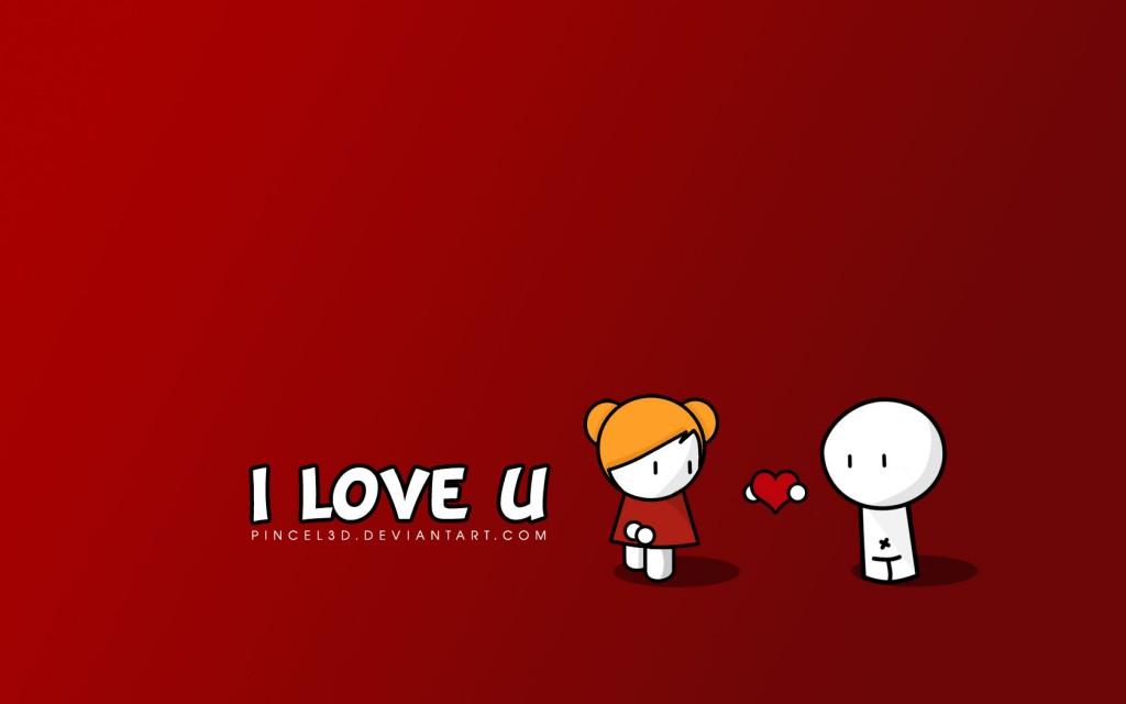 Papel de parede I Love U para download gratuito. Use no computador pc, mac, macbook, celular, smartphone, iPhone, onde quiser!
