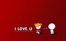 Papel de parede I Love U