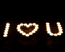 Papel de parede I Love You – Velas