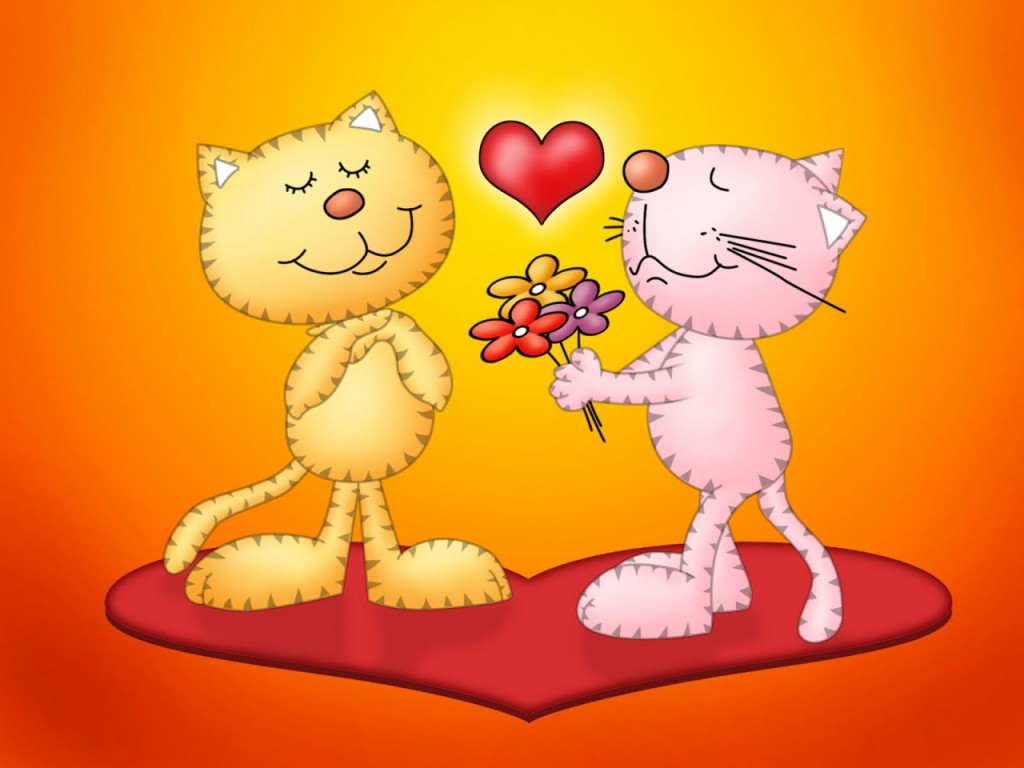 Papel de parede Amor – Gatos para download gratuito. Use no computador pc, mac, macbook, celular, smartphone, iPhone, onde quiser!