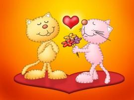 Papel de parede Amor – Gatos