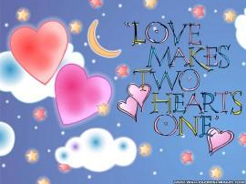 Papel de parede O Amor Faz Dois Corações Virarem Um