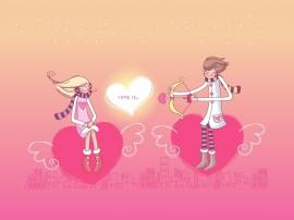 Papel de parede Flecha do Amor