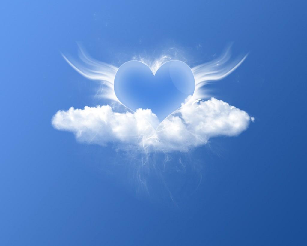 Papel de parede Coração nas Nuves para download gratuito. Use no computador pc, mac, macbook, celular, smartphone, iPhone, onde quiser!