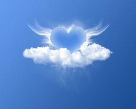Papel de parede Coração nas Nuves