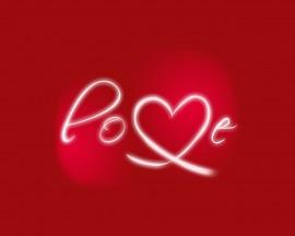 Papel de parede Love – Vermelho