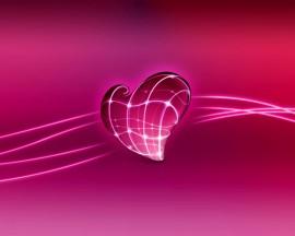 Papel de parede Coração – Cor de Rosa