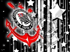 Papel de parede Corinthians: Escudo e Estrelas
