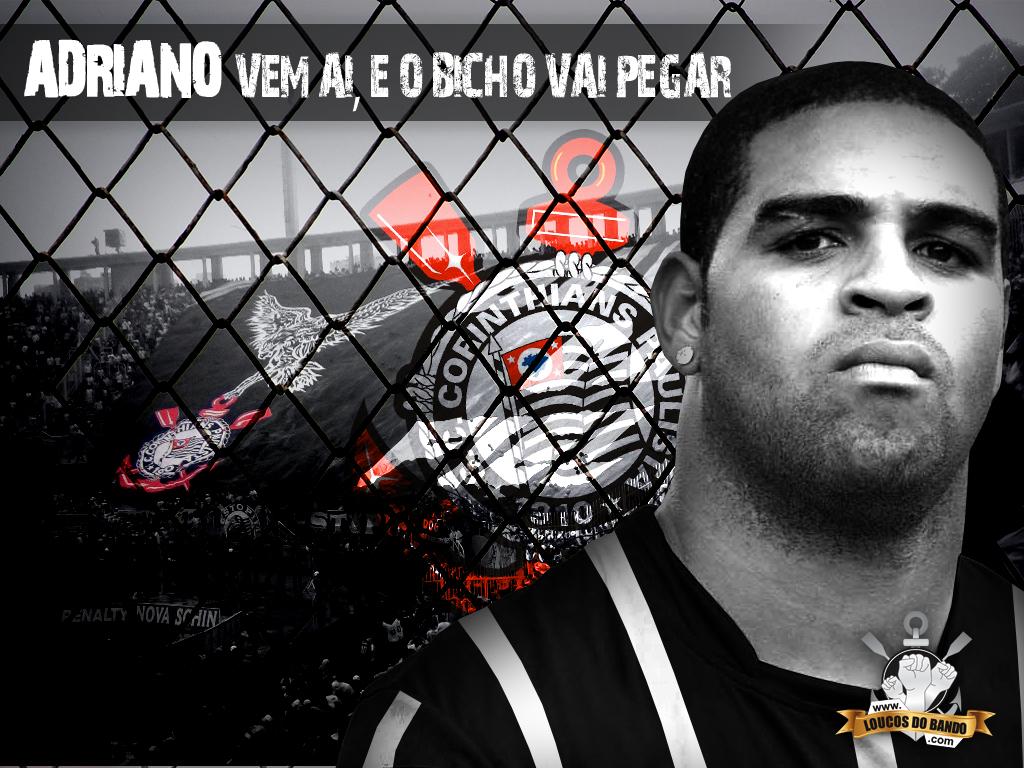 Papel de parede Corinthians: Adriano para download gratuito. Use no computador pc, mac, macbook, celular, smartphone, iPhone, onde quiser!