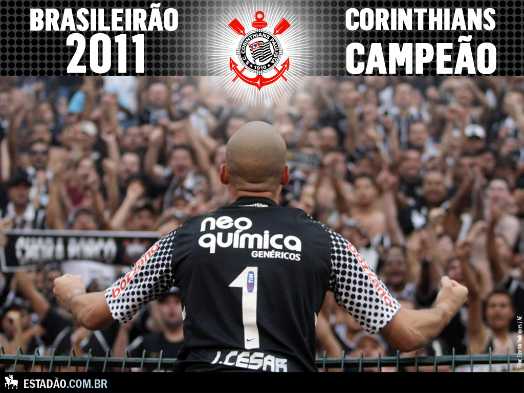 Papel de parede Corinthians: Campeão Brasileirão 2011 para download gratuito. Use no computador pc, mac, macbook, celular, smartphone, iPhone, onde quiser!