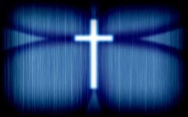Papel de parede Cruz – Azul