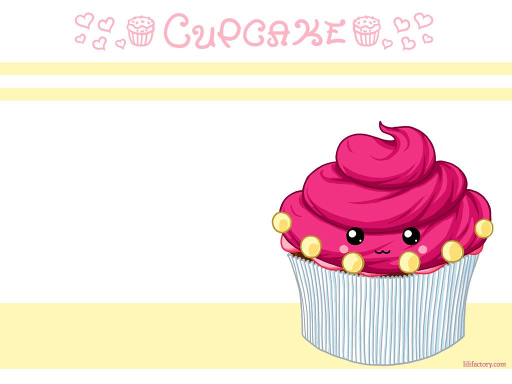 Papel de parede Cupcakes – Desenho para download gratuito. Use no computador pc, mac, macbook, celular, smartphone, iPhone, onde quiser!