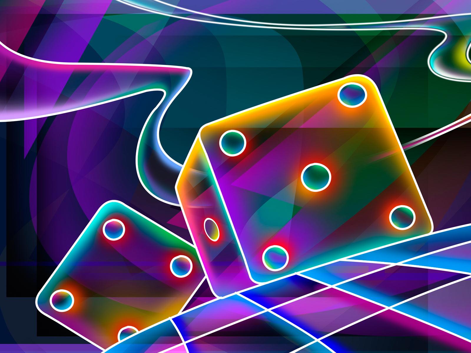 Papel De Parede Dados Em Neon Wallpaper Para Download No