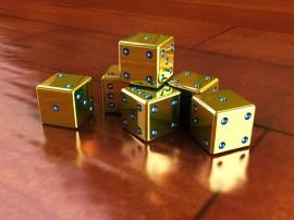 Papel de parede Dados Dourados