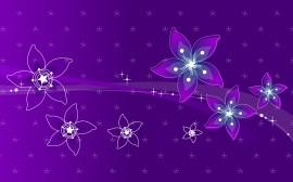 Papel de parede Design: Flores Roxas