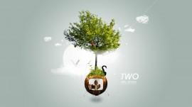 Papel de parede Design: Árvore Maluca