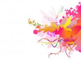 Papel de parede Design: Laranja e Rosa