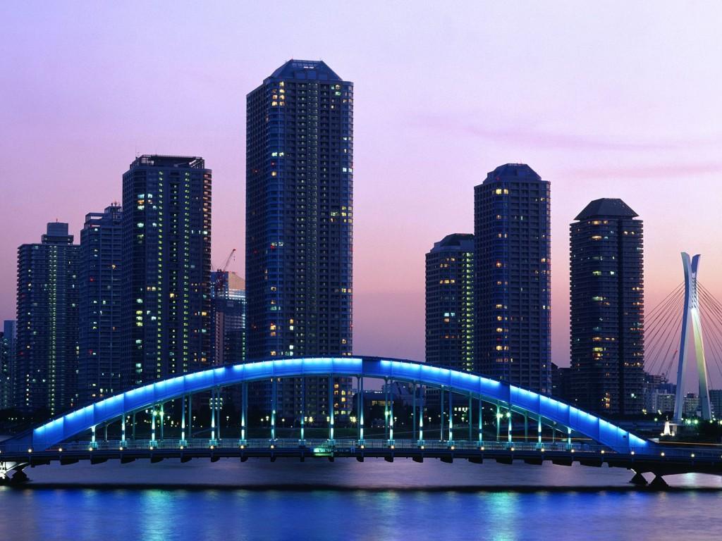 Papel de parede Japão – Ponte Eitai, Tokio para download gratuito. Use no computador pc, mac, macbook, celular, smartphone, iPhone, onde quiser!