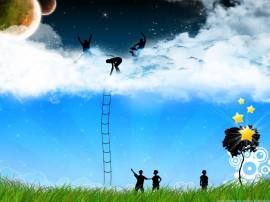 Papel de parede Escada – Para o Céu