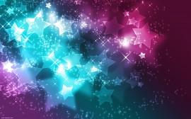 Papel de parede Estrelas Rosa e Azul