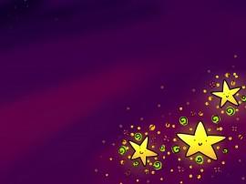 Papel de parede Estrelas Sorridentes