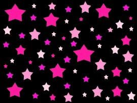 Papel de parede Estrelas em Tons de Rosa