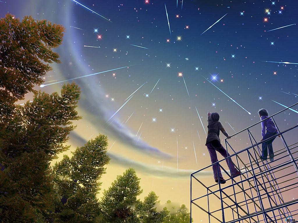 Papel de parede Estrelas Cadentes para download gratuito. Use no computador pc, mac, macbook, celular, smartphone, iPhone, onde quiser!