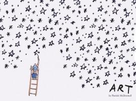 Papel de parede Desenhando Estrelas