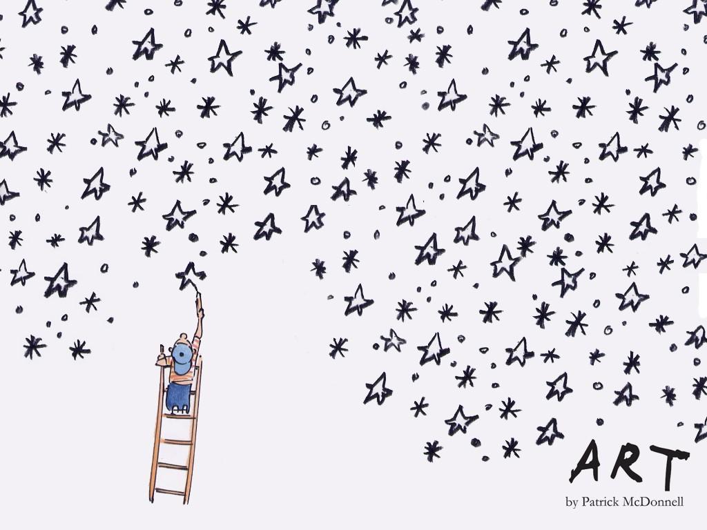 Papel de parede Desenhando Estrelas para download gratuito. Use no computador pc, mac, macbook, celular, smartphone, iPhone, onde quiser!
