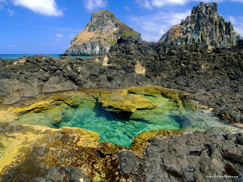 Papel de parede Fernando de Noronha: Piscina Natural para download gratuito. Use no computador pc, mac, macbook, celular, smartphone, iPhone, onde quiser!