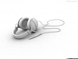 Papel de parede Fone de Ouvido Branco