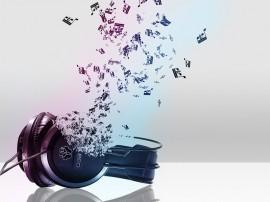 Papel de parede Fone Formado por Música