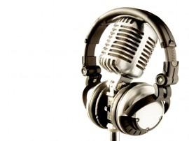 Papel de parede Fone e Microfone
