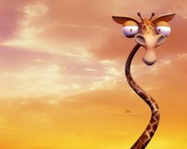 Papel de parede Desenho de Girafa