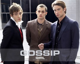 Papel de parede Gossip Girl: Dan, Chuck e Nate