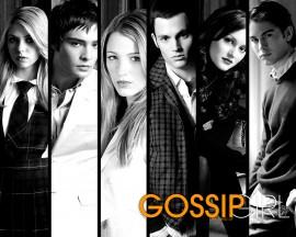 Papel de parede Gossip Girl: Preto e Branco
