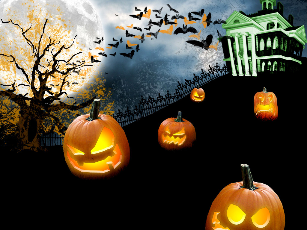 Papel de parede Abóboras de Halloween para download gratuito. Use no computador pc, mac, macbook, celular, smartphone, iPhone, onde quiser!
