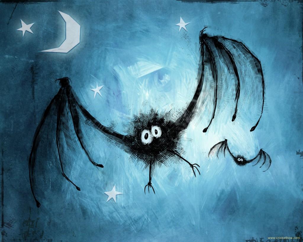 Papel de parede Morcegos Assustadores para download gratuito. Use no computador pc, mac, macbook, celular, smartphone, iPhone, onde quiser!