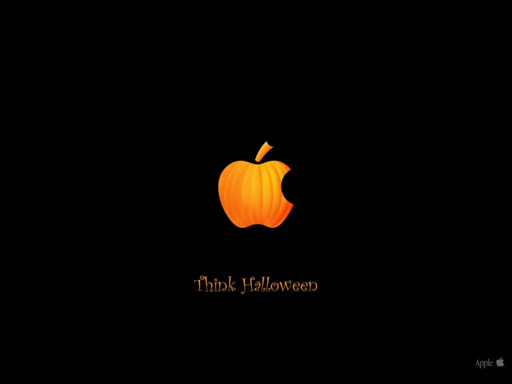 Papel de parede Apple no Halloween para download gratuito. Use no computador pc, mac, macbook, celular, smartphone, iPhone, onde quiser!