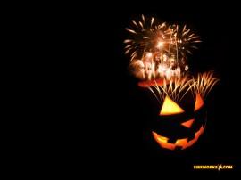Papel de parede Fogos de Artifício na Abóbora de Halloween