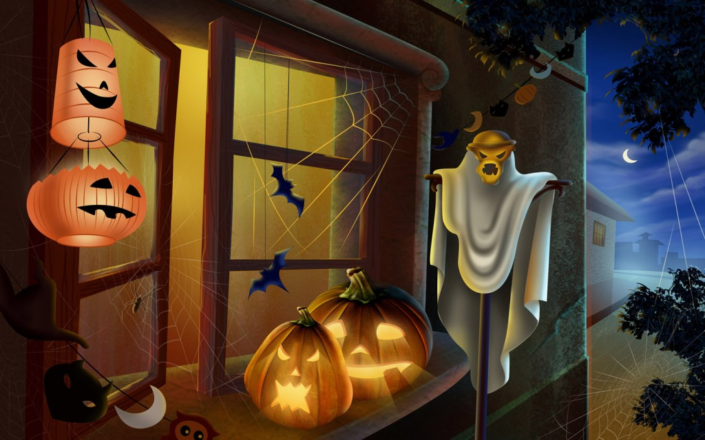 Papel de parede Decoração de Halloween para download gratuito. Use no computador pc, mac, macbook, celular, smartphone, iPhone, onde quiser!