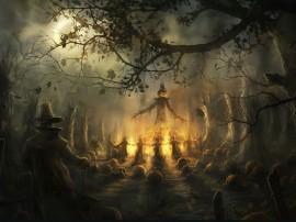 Papel de parede Revolta das Abóboras no Halloween