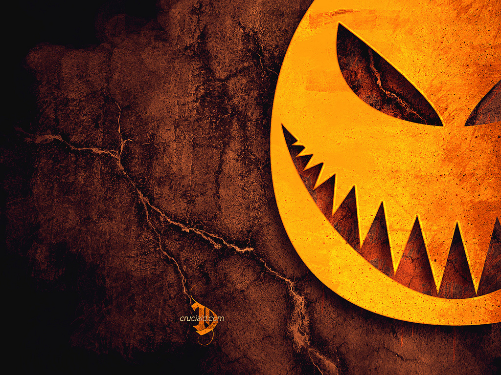 Papel de parede Abóbora de Halloween Estilizada para download gratuito. Use no computador pc, mac, macbook, celular, smartphone, iPhone, onde quiser!