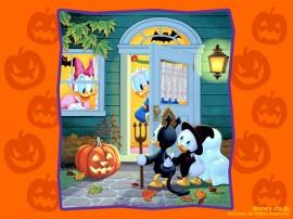 Papel de parede Halloween do Donald e Seus Sobrinhos
