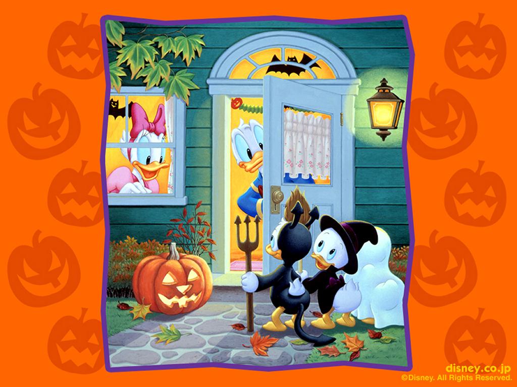 Papel de parede Halloween do Donald e Seus Sobrinhos para download gratuito. Use no computador pc, mac, macbook, celular, smartphone, iPhone, onde quiser!