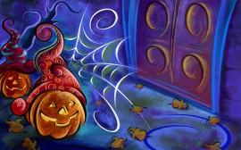 Papel de parede Desenho de Abórboras de Halloween