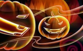 Papel de parede Assustadoras Abóboras de Halloween