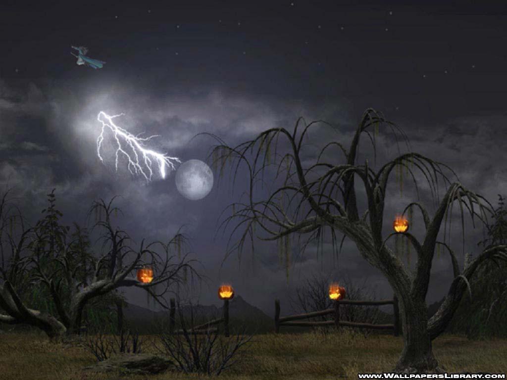 Papel de parede Assustadora Noite de Halloween para download gratuito. Use no computador pc, mac, macbook, celular, smartphone, iPhone, onde quiser!